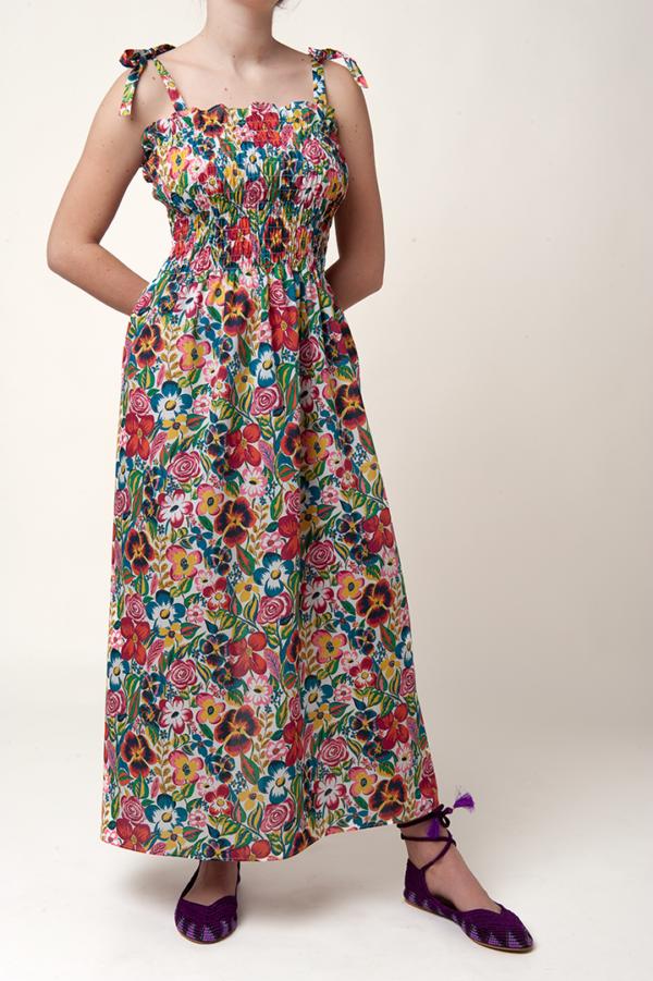 Vestito donna, tessuto liberty