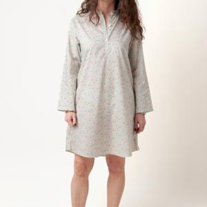 camicia da notte artigianale donna e bimba in tessuto liberty